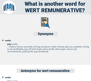 wert remunerative, synonym wert remunerative, another word for wert remunerative, words like wert remunerative, thesaurus wert remunerative