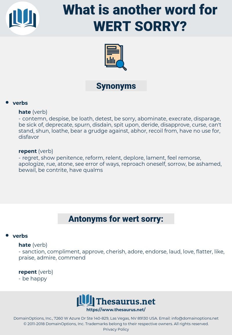 wert sorry, synonym wert sorry, another word for wert sorry, words like wert sorry, thesaurus wert sorry