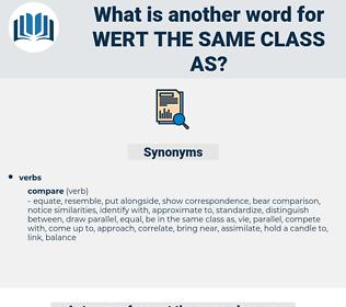 wert the same class as, synonym wert the same class as, another word for wert the same class as, words like wert the same class as, thesaurus wert the same class as