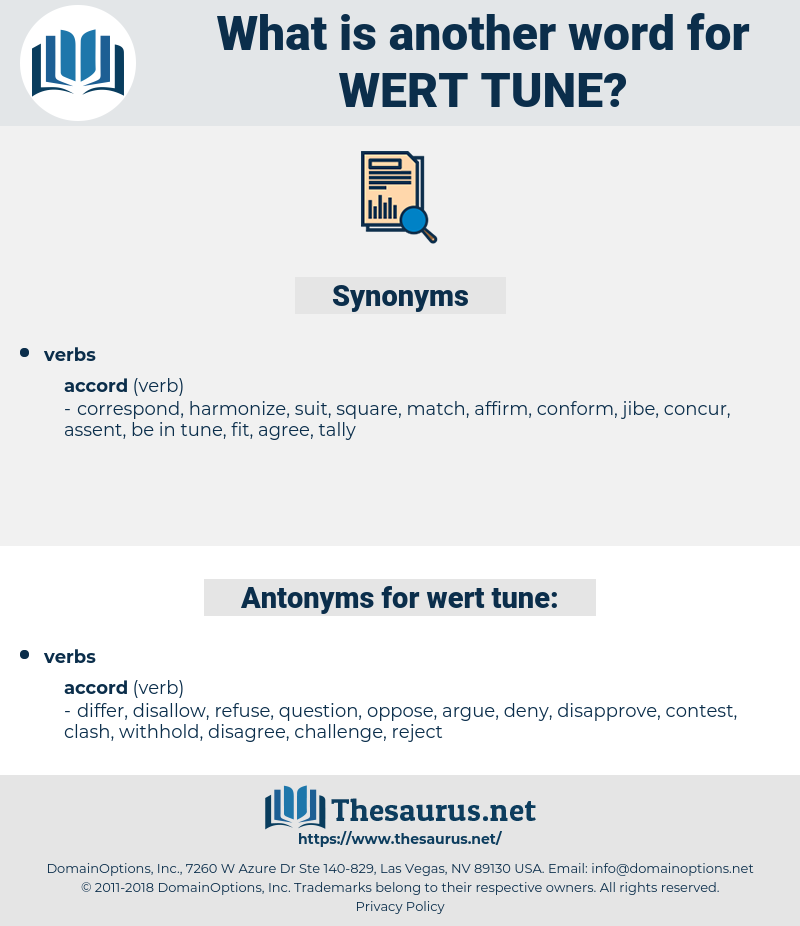 wert tune, synonym wert tune, another word for wert tune, words like wert tune, thesaurus wert tune