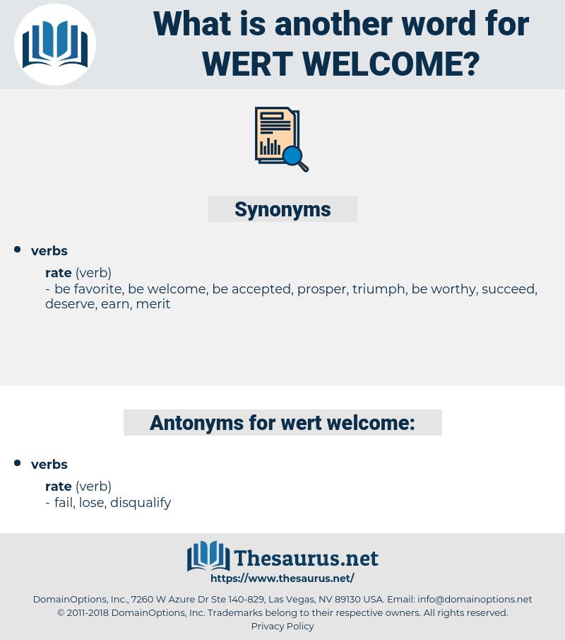 wert welcome, synonym wert welcome, another word for wert welcome, words like wert welcome, thesaurus wert welcome