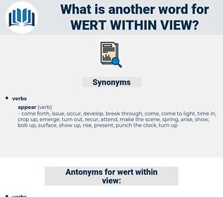 wert within view, synonym wert within view, another word for wert within view, words like wert within view, thesaurus wert within view