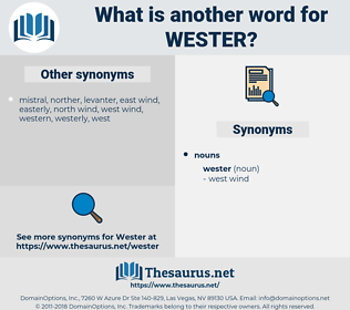 wester, synonym wester, another word for wester, words like wester, thesaurus wester