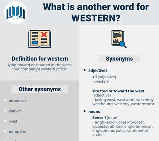 western, synonym western, another word for western, words like western, thesaurus western
