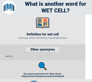wet cell, synonym wet cell, another word for wet cell, words like wet cell, thesaurus wet cell
