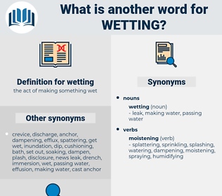 wetting, synonym wetting, another word for wetting, words like wetting, thesaurus wetting