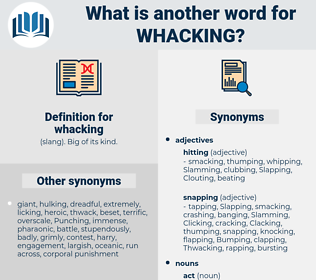 whacking, synonym whacking, another word for whacking, words like whacking, thesaurus whacking