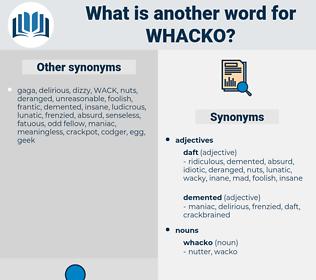 whacko, synonym whacko, another word for whacko, words like whacko, thesaurus whacko