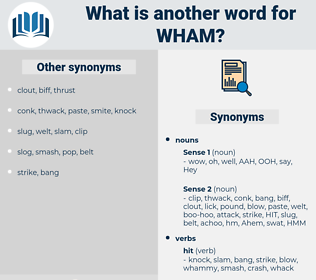 wham, synonym wham, another word for wham, words like wham, thesaurus wham