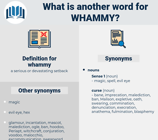 whammy, synonym whammy, another word for whammy, words like whammy, thesaurus whammy