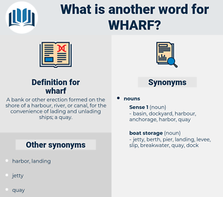 wharf, synonym wharf, another word for wharf, words like wharf, thesaurus wharf