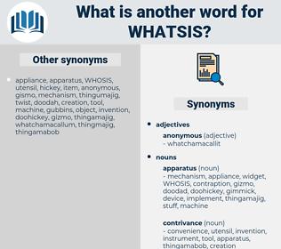 whatsis, synonym whatsis, another word for whatsis, words like whatsis, thesaurus whatsis