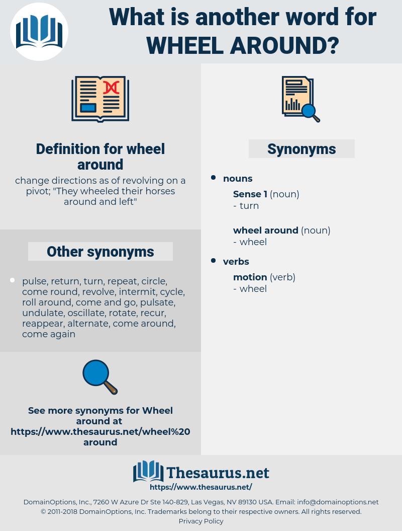 wheel around, synonym wheel around, another word for wheel around, words like wheel around, thesaurus wheel around