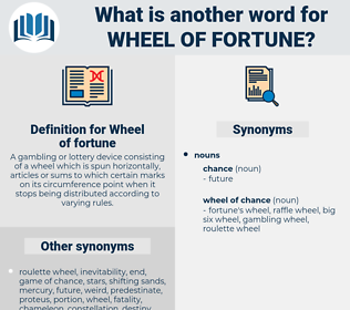 Wheel of fortune, synonym Wheel of fortune, another word for Wheel of fortune, words like Wheel of fortune, thesaurus Wheel of fortune
