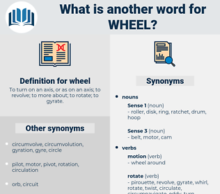 wheel, synonym wheel, another word for wheel, words like wheel, thesaurus wheel