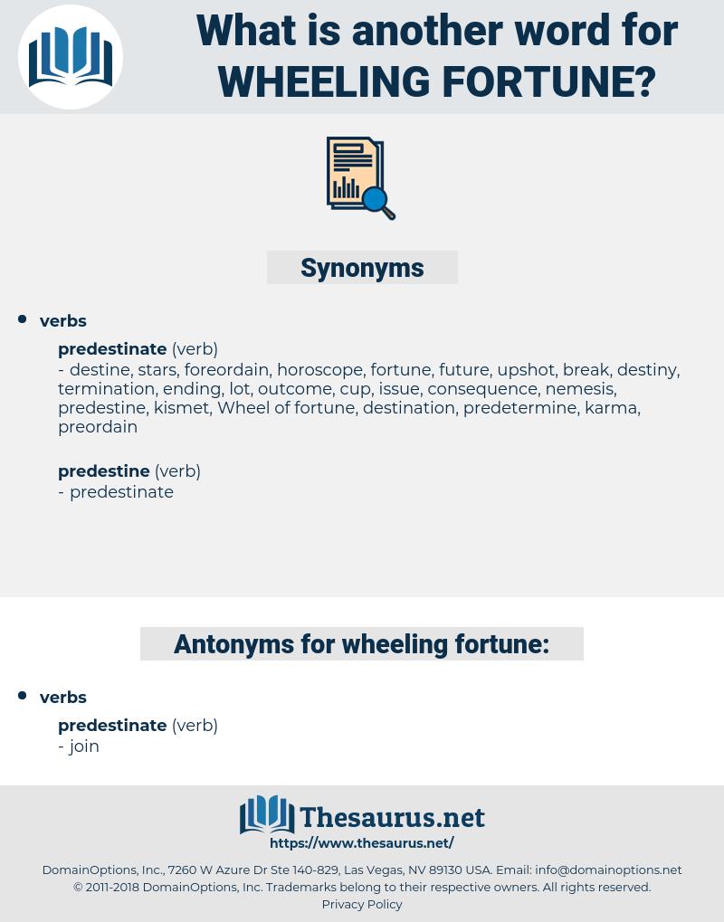 wheeling fortune, synonym wheeling fortune, another word for wheeling fortune, words like wheeling fortune, thesaurus wheeling fortune