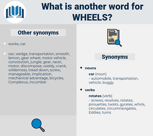 wheels, synonym wheels, another word for wheels, words like wheels, thesaurus wheels