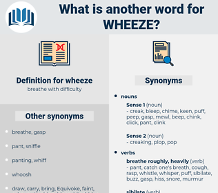 wheeze, synonym wheeze, another word for wheeze, words like wheeze, thesaurus wheeze