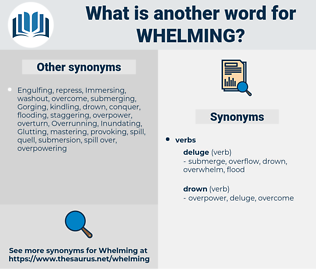 Whelming, synonym Whelming, another word for Whelming, words like Whelming, thesaurus Whelming