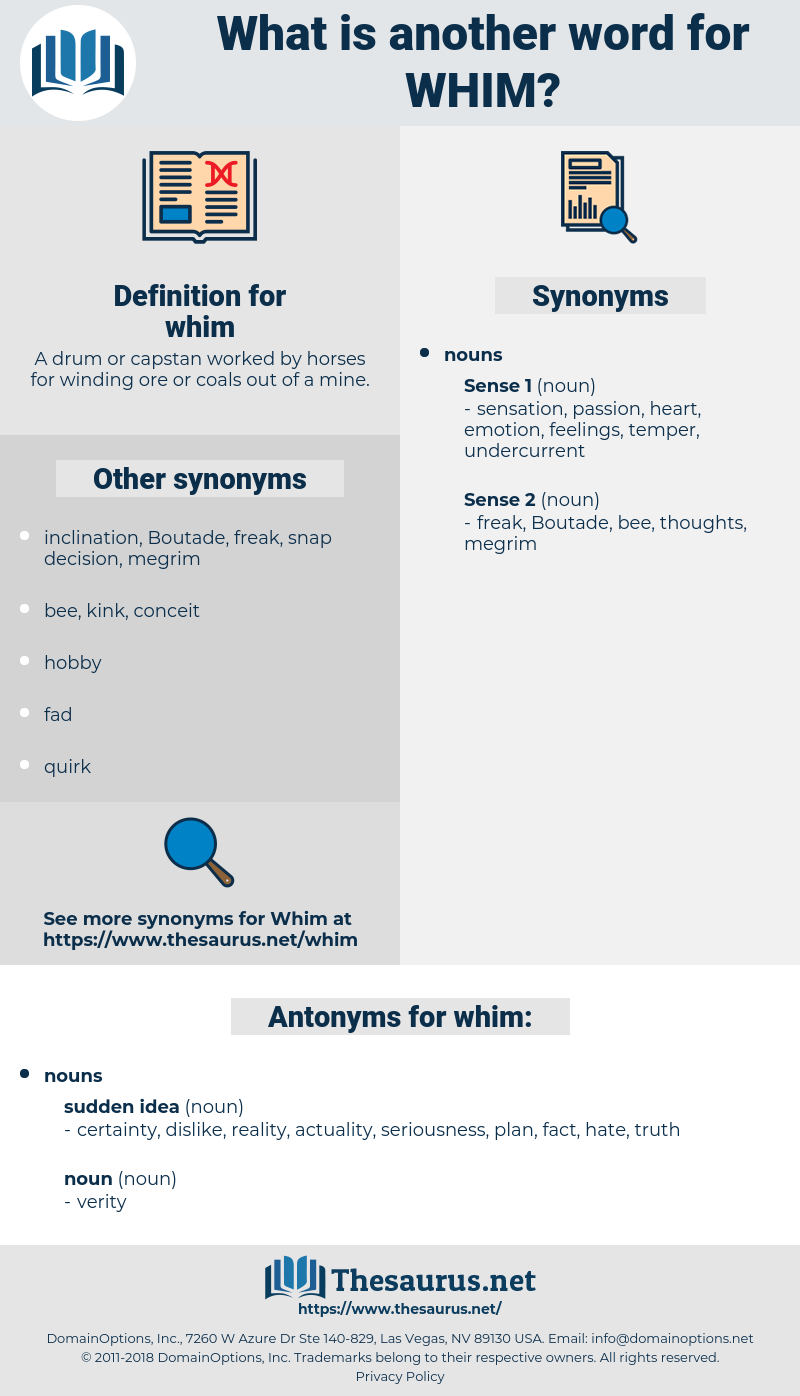 whim, synonym whim, another word for whim, words like whim, thesaurus whim