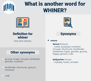 whiner, synonym whiner, another word for whiner, words like whiner, thesaurus whiner