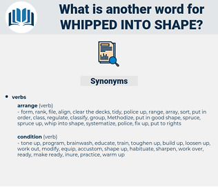 whipped into shape, synonym whipped into shape, another word for whipped into shape, words like whipped into shape, thesaurus whipped into shape