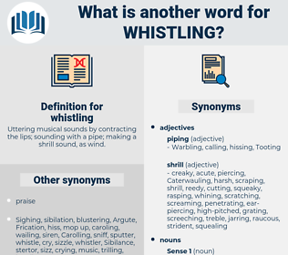 whistling, synonym whistling, another word for whistling, words like whistling, thesaurus whistling