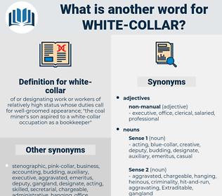 white-collar, synonym white-collar, another word for white-collar, words like white-collar, thesaurus white-collar