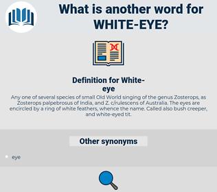 White-eye, synonym White-eye, another word for White-eye, words like White-eye, thesaurus White-eye
