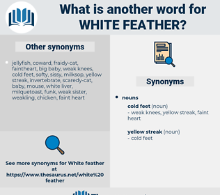 white feather, synonym white feather, another word for white feather, words like white feather, thesaurus white feather