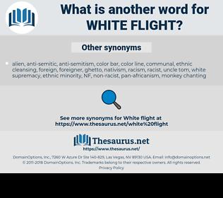 white flight, synonym white flight, another word for white flight, words like white flight, thesaurus white flight