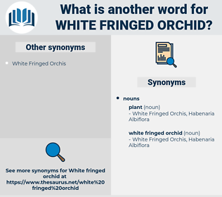 white fringed orchid, synonym white fringed orchid, another word for white fringed orchid, words like white fringed orchid, thesaurus white fringed orchid