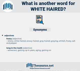 white-haired, synonym white-haired, another word for white-haired, words like white-haired, thesaurus white-haired