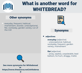 whitebread, synonym whitebread, another word for whitebread, words like whitebread, thesaurus whitebread