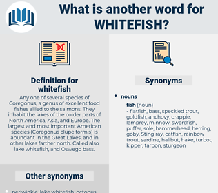 whitefish, synonym whitefish, another word for whitefish, words like whitefish, thesaurus whitefish