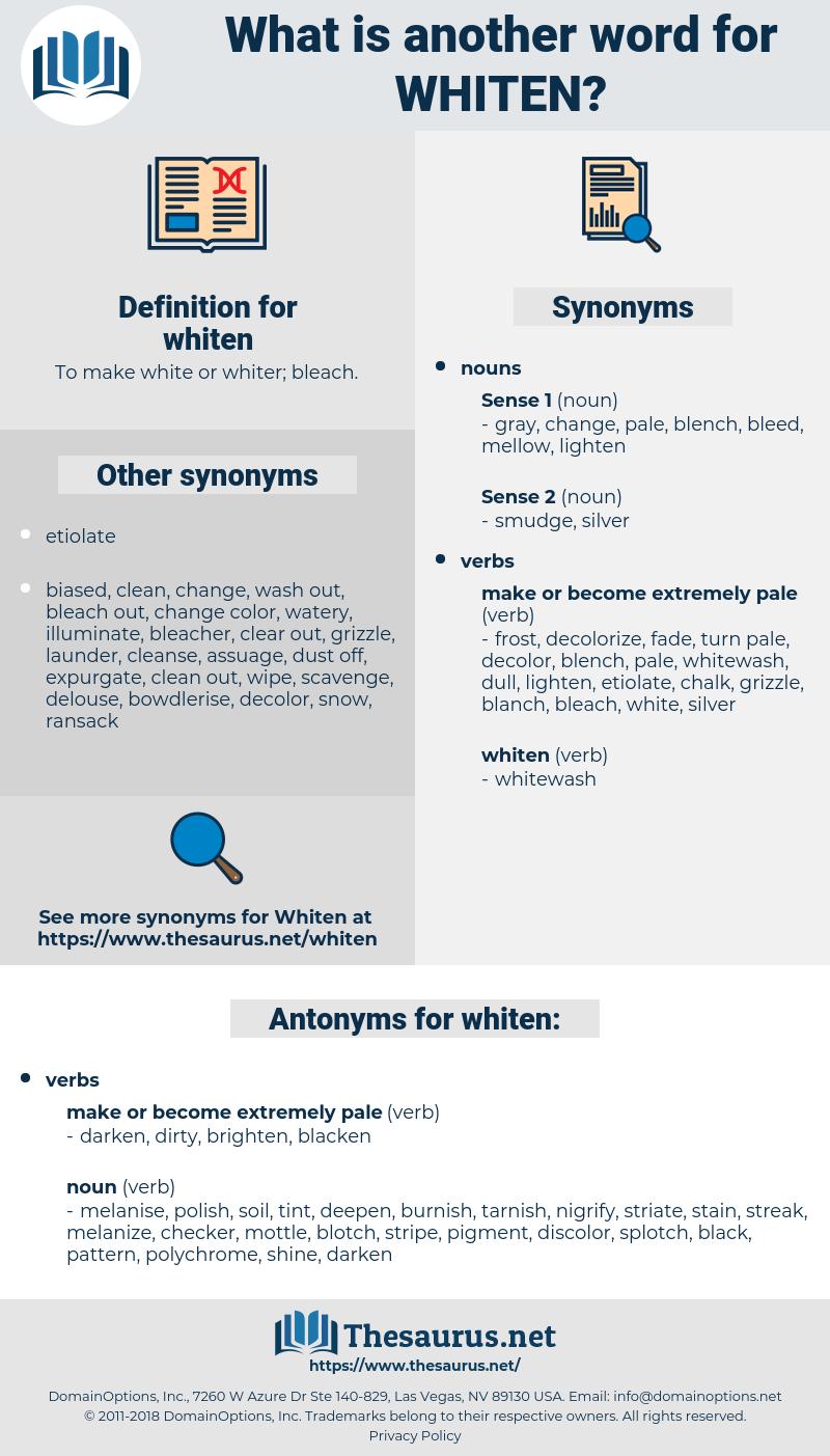 whiten, synonym whiten, another word for whiten, words like whiten, thesaurus whiten