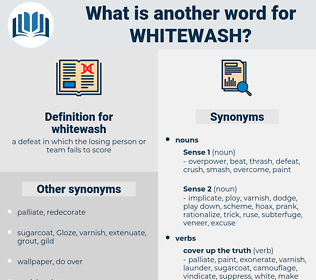 whitewash, synonym whitewash, another word for whitewash, words like whitewash, thesaurus whitewash