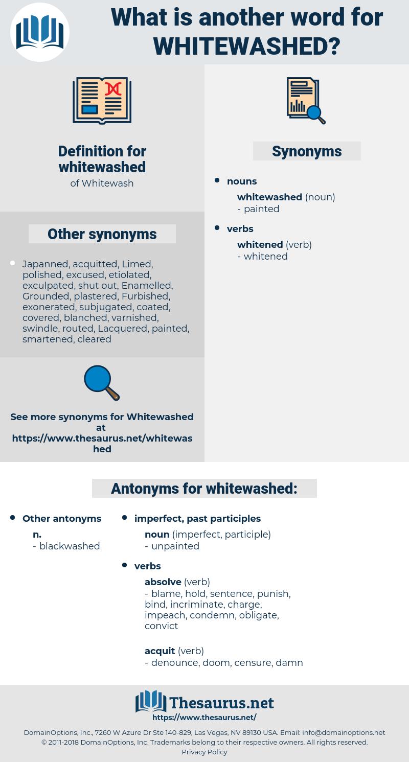 whitewashed, synonym whitewashed, another word for whitewashed, words like whitewashed, thesaurus whitewashed