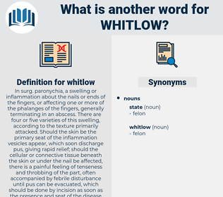 whitlow, synonym whitlow, another word for whitlow, words like whitlow, thesaurus whitlow