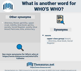 who's who, synonym who's who, another word for who's who, words like who's who, thesaurus who's who