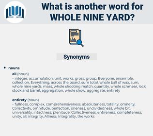 whole nine yard, synonym whole nine yard, another word for whole nine yard, words like whole nine yard, thesaurus whole nine yard