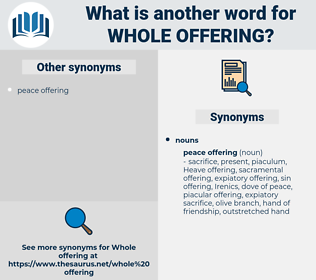 whole offering, synonym whole offering, another word for whole offering, words like whole offering, thesaurus whole offering