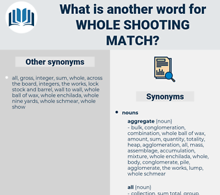 whole shooting match, synonym whole shooting match, another word for whole shooting match, words like whole shooting match, thesaurus whole shooting match