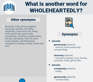 wholeheartedly, synonym wholeheartedly, another word for wholeheartedly, words like wholeheartedly, thesaurus wholeheartedly
