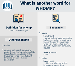 whomp, synonym whomp, another word for whomp, words like whomp, thesaurus whomp