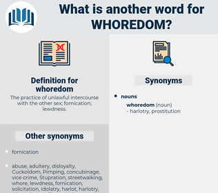 whoredom, synonym whoredom, another word for whoredom, words like whoredom, thesaurus whoredom