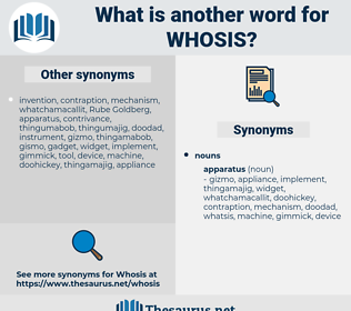 WHOSIS, synonym WHOSIS, another word for WHOSIS, words like WHOSIS, thesaurus WHOSIS