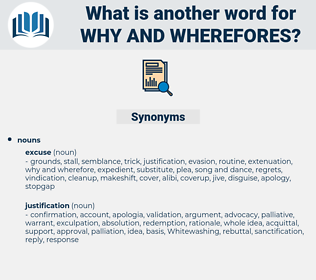why and wherefores, synonym why and wherefores, another word for why and wherefores, words like why and wherefores, thesaurus why and wherefores