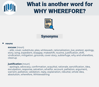 why wherefore, synonym why wherefore, another word for why wherefore, words like why wherefore, thesaurus why wherefore