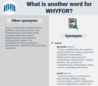 whyfor, synonym whyfor, another word for whyfor, words like whyfor, thesaurus whyfor